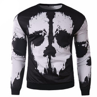 3D Skulls Printed Pullovers Men Brand Casual Sweatshirt