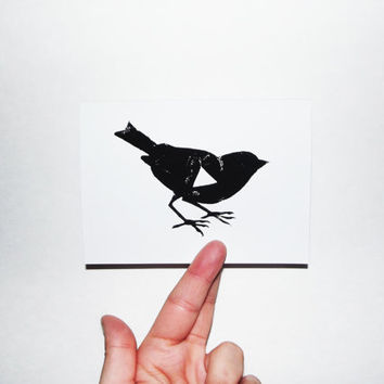 5 Cards and Envelopes - Geometric Bird