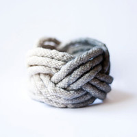 big cotton thread turk head knot bracelet by nanoukiko on Etsy