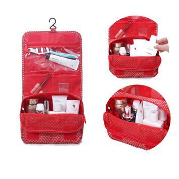 Multifunction Travel Toiletry Bag Hanging Foldable Cosmetic Wash Bag Organizer with Hook
