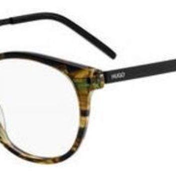 HUGO by Hugo Boss - Hg 1037 Green Horn Eyeglasses / Demo Lenses