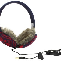 Lobers Women's Basic Snowflake Earmuffs, Navy Multi, One Size