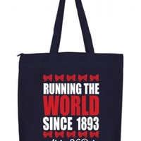 Alpha Xi Delta Running The World Zippered Poly Tote Design | Great Pricing | Customize Now