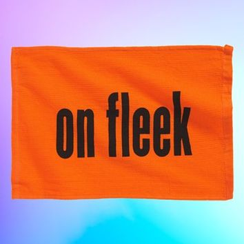 POP-IN 'On Fleek' Rally Towel - Orange