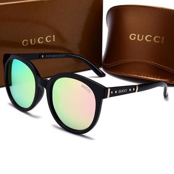 Kalete GUCCI Fashion Ladies Men Personality Summer Sun Shades Eyeglasses Glasses Sunglasses Pink I-HWYMSH-YJ