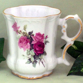 Set of 2 Olympia Rose Victorian Tankards
