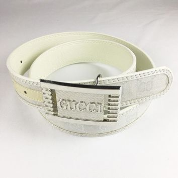 GUCCI Fashion Smooth Buckle Belt Leather Belt