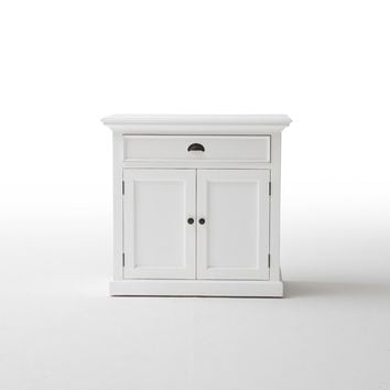 Halifax Medium Buffet White semi-glosspaint with a smooth top coat