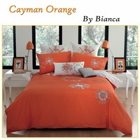 Cayman Orange Quilt Cover Set by Bianca (The Price is in AUD)
