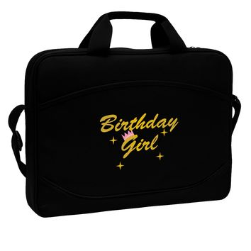 """Birthday Girl Text 15"""" Dark Laptop / Tablet Case Bag by TooLoud"""