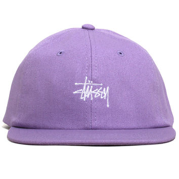 Smooth Stock Canvas Strapback Hat Lavender