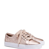 Tory Burch Marion Quilted Metallic Sneaker