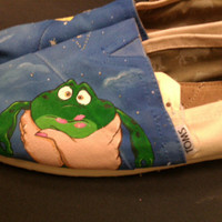 Princess and The Frog hand painted TOMS