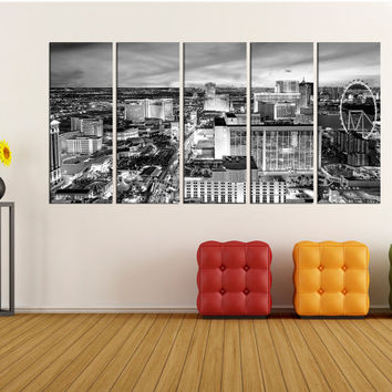 Las vegas Skyline canvas print, Extra Large canvas print las vegas Wall Art photo Print , city skyline no:uc69