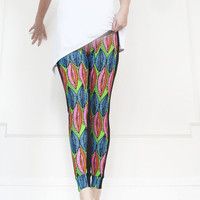 Leggings in Neon Colours Print , Yoga Women Wear, Slim Pants,Dance, Bike Wear, Jogging