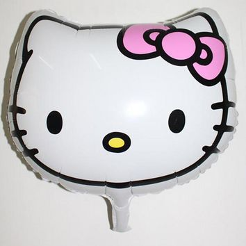 Real Time-limited Foil Balloons Juguetes 5pcs/lot 46*46cm Head Foil Balloon for Hello Kitty Supplies Party Favors Balloons