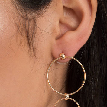 Circular Motion Dangle Earrings