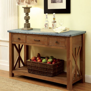 Furniture of america CM3533-SV Armous I industrial natural tone finish wood sideboard server