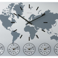 Karlsson World Time Wall Clock