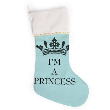 "Louise Machado ""Im a Princess"" Christmas Stocking"