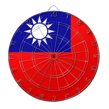 Dartboard with Flag of Taiwan