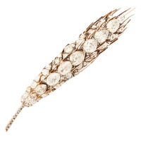Victorian Diamond Gold Sheaf of Wheat Brooch