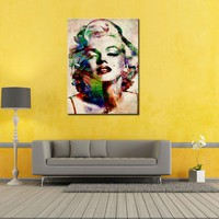 1 Picture Canvas Painting Sexy Marilyn Monroe Printed Painting on Canvas Wall Art Picture for Living Room Home Decorations