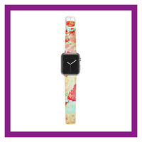 "Alison Coxon ""Oh The Places We'll Go"" World Map Apple Watch Strap"