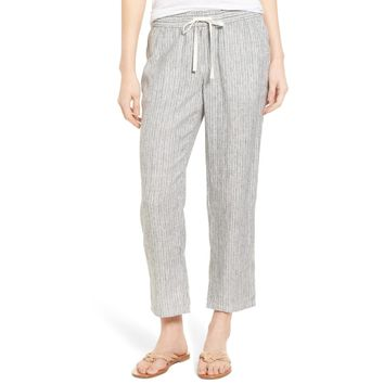 Caslon Women's Linen Crop Pants