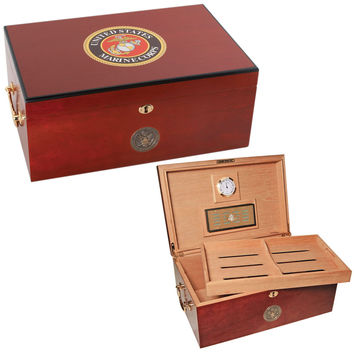 Humidor with Marine Corps logo by American Emblems