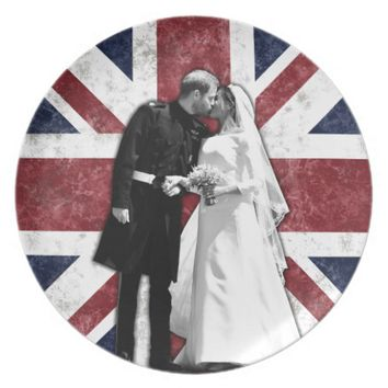 Prince Harry and Meghan Markle Royal Wedding Dinner Plate