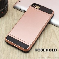 RoseGold Wallet Phone Case For iPhone 7 7Plus 6 6s Plus 5 5s SE