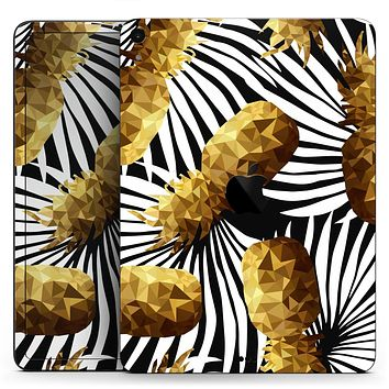 "Gold Pineapple Express - Full Body Skin Decal for the Apple iPad Pro 12.9"", 11"", 10.5"", 9.7"", Air or Mini (All Models Available)"
