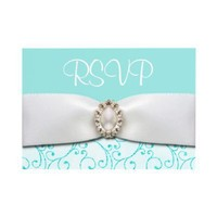 Blue RSVP Wedding Cards Custom Announcements from Zazzle.com
