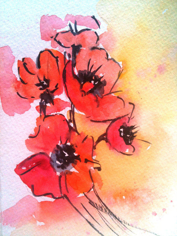 Custom Watercolor Painting, 5x7, gifts from ...