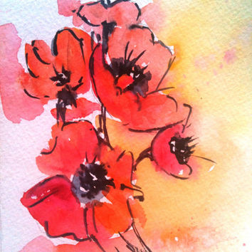 Custom Watercolor Painting, 5x7, gifts under 25, flower, bird, nude, animal, wildlife, insect, plant, tree, abstract