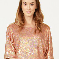 Copper Sequin Crop Top