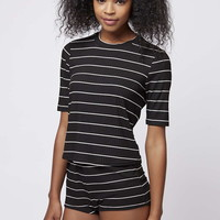 Stripe Ribbed Pajama Set - Topshop