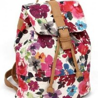Vintage Printed Flora Backpack