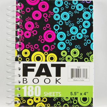 Fat Spiral Notebook- 180 Sheets