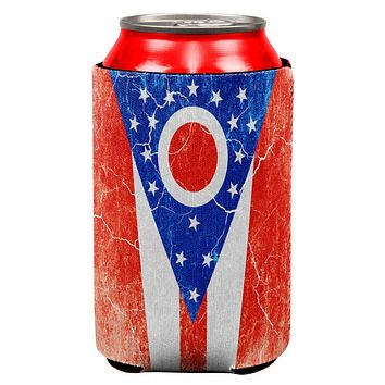 Ohio Vintage Distressed State Flag All Over Can Cooler