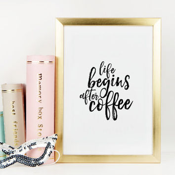 KITCHEN DECOR But First Coffe Typography Print Motivational Print Inspirational Poster Office Decor Office Wall Art Women Gift Printable Art