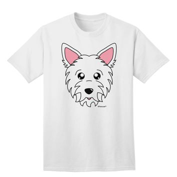 Cute West Highland White Terrier Westie Dog Adult T-Shirt by TooLoud