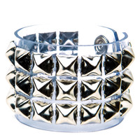 Clear Pyramid Studded Bracelet