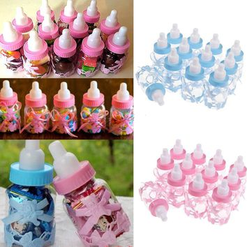 12Pcs Fillable Bottles Bear for Baby Shower Favors Pink Girl Party Decoration