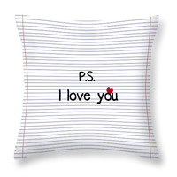 Simple Truth - P.S. I Love You novelty pillow - accent cushion, pillow cover, cushion cover, love, romance, gifts for her, gifts for him
