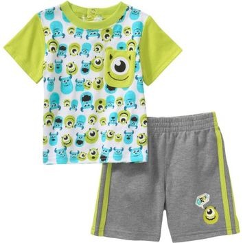 Monsters Inc Newborn Baby Boy Pocket T-Shirt and Shorts Outfit Set - Walmart.com