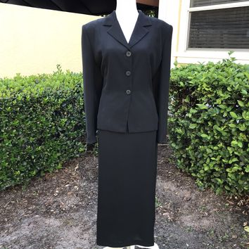 INGENUITY Women's Plus Size 18 Tall 2Pc. Set Black Skirt Suit