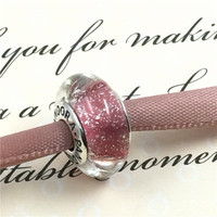 Pandora Like Compatible DIY Charms Glass Beads Women Birthday Gift Casual Jewelry Accessories Bracelet _ 2066