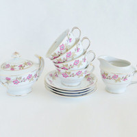 Cottage Chic Briar Rose Tea Set JAPAN